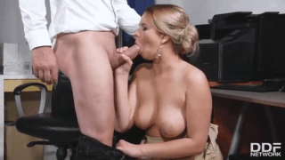Cock sucking at the office with hot Milf Nikky Dream sex video