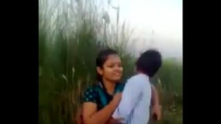 desi couple romance and kissing in fields outdoor mms