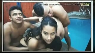 Indian grup gang babg sex with collage boyes in pool