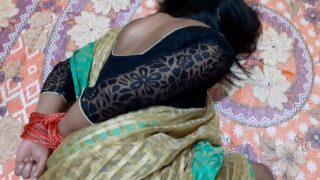 Green Saree sexy bhabhi Hard Fucking With devar With Dirty Hindi Audio
