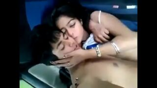 collage student Couple make romance in car xxx mms video
