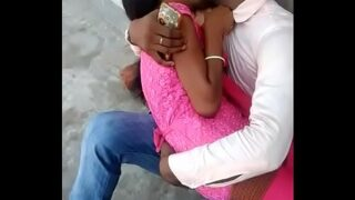 xnxx video South Indian sexy Teen with Cousin Brother kissing in public place